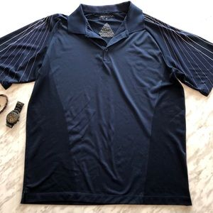 Nike Golf Navy Polo Shirt Size Large